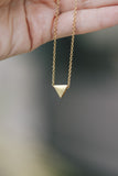 Triangle necklace, tiny gold bead necklace, waterproof chain necklace, personalised jewelry