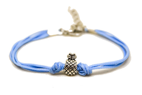 Pineapple bracelet, blue cord - shani-adi-jewerly