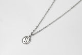 Silver Yin Yang necklace for men, stainless steel chain necklace - shani-adi-jewerly