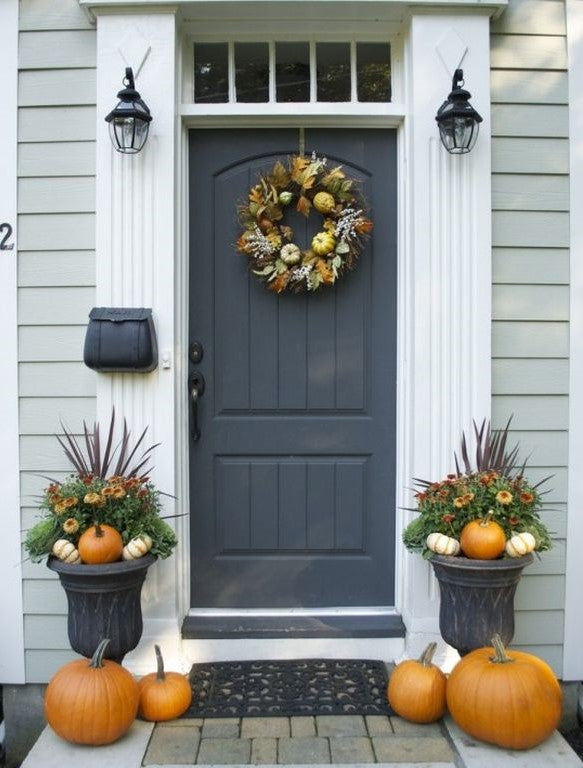 Fall Front Porch Staging