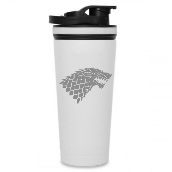 Winter is Coming 26oz Ice Shaker bottle-White