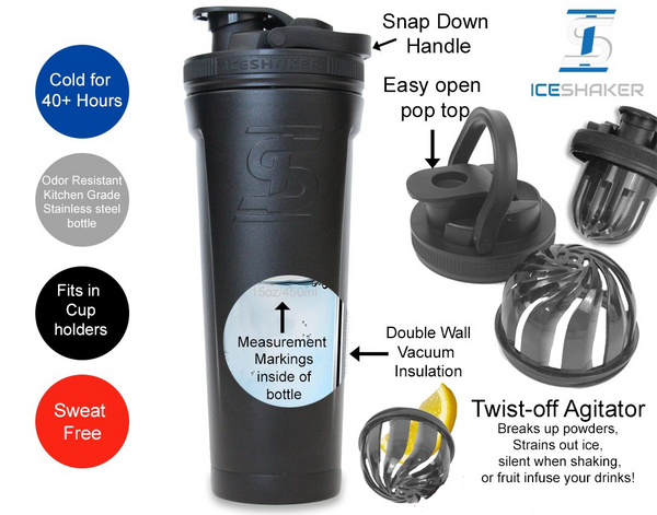 36oz Ice Shaker Features