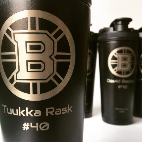 Boston bruins custom shaker bottles