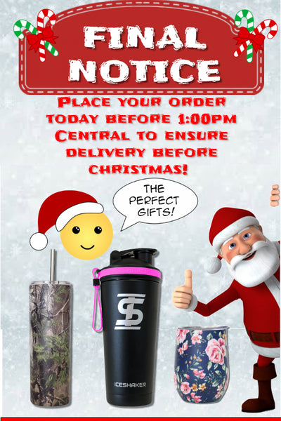 Christmas delivery final notice Ice Shaker