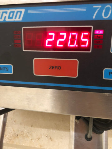Day 7 weigh in