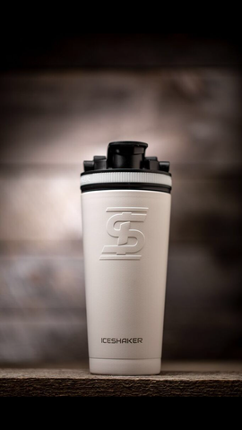 26oz White Ice Shaker Bottle