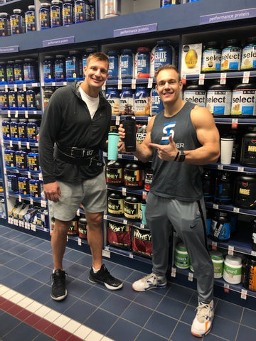 Chris and rob Gronkowski Vitamin Shoppe Ice Shaker