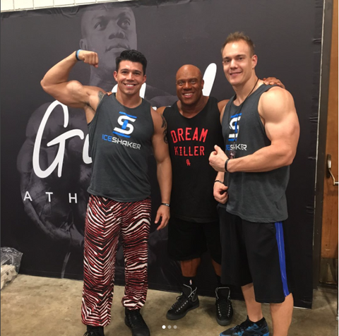 Chris Gronkowski, Phil Heath, Orlando Vargas
