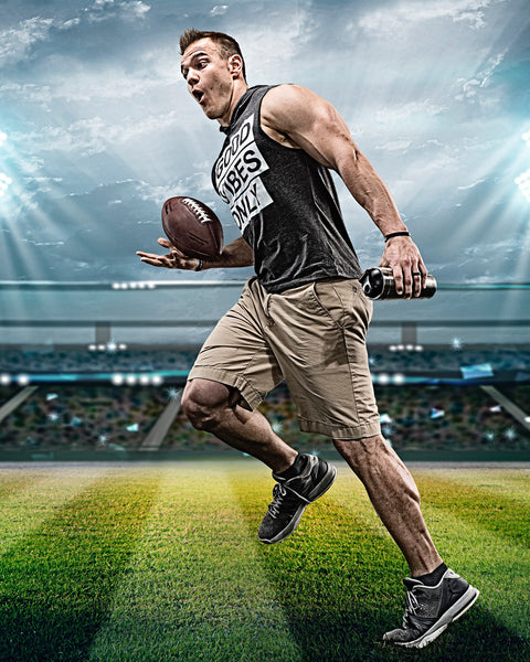 Chris Gronkowski ice shaker protein mixing cup water bottle