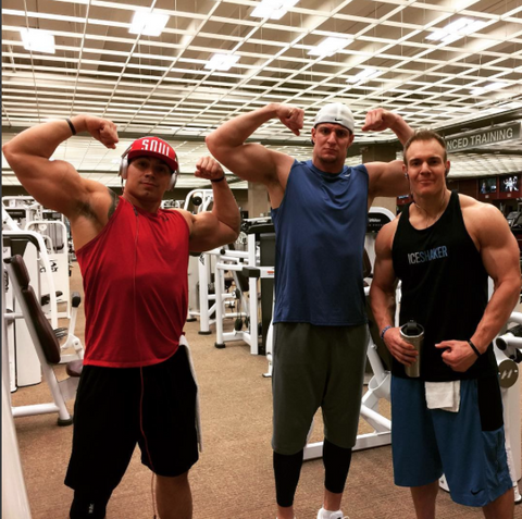 Rob & Chris Gronkowski at the Gym