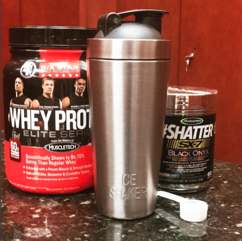 Ice Shaker with Protein and Pre workout