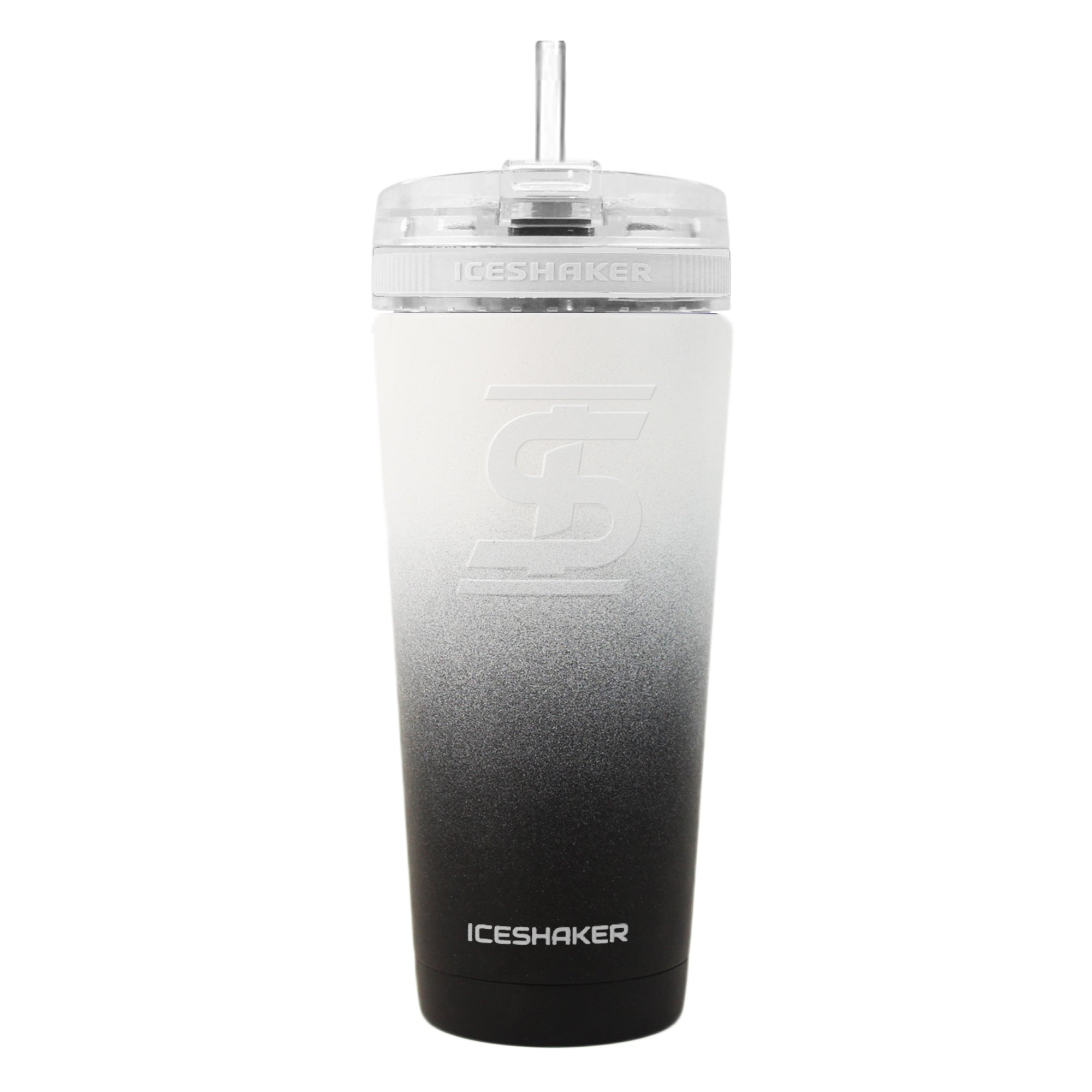 26oz Black/White Ombre Ice Shaker