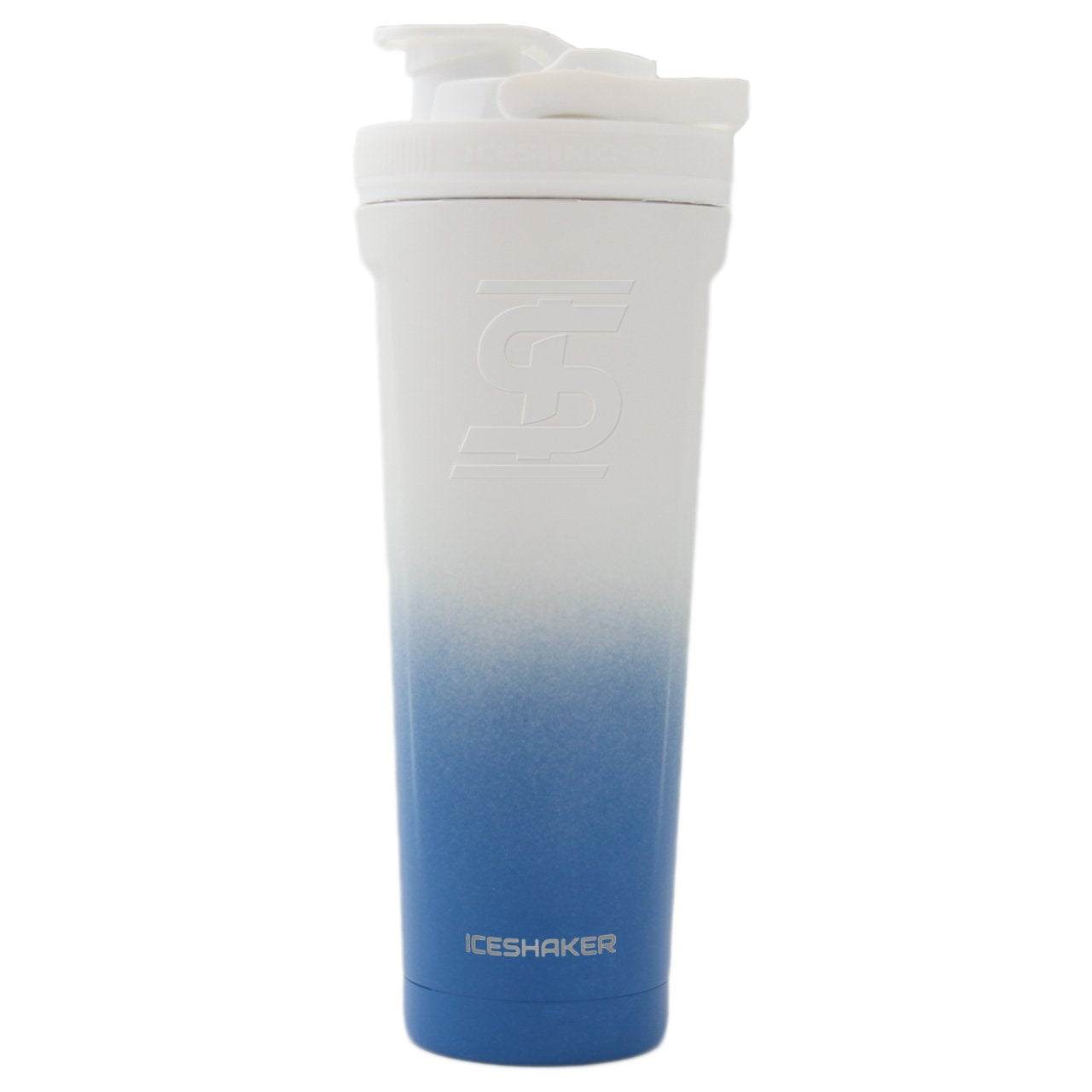 Navy White Ombre 36oz Ice Shaker