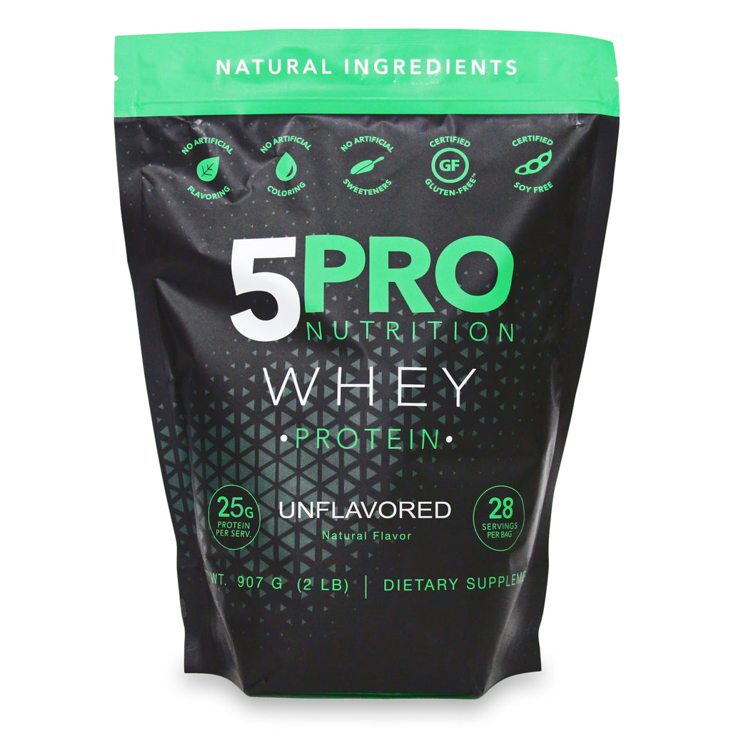 5PRO Natural Whey Protein - Unflavored - 2Lbs
