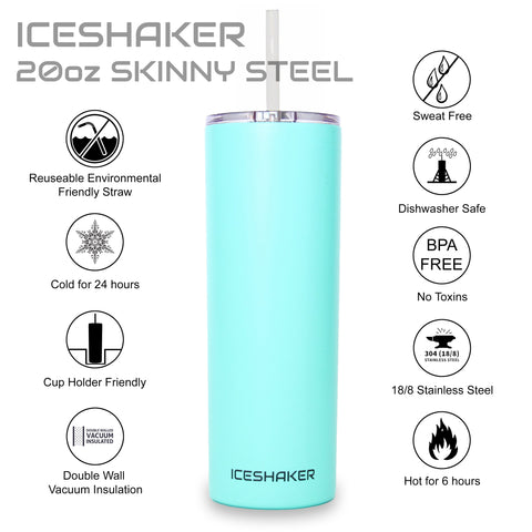20oz Mint Skinny Steel Tumbler