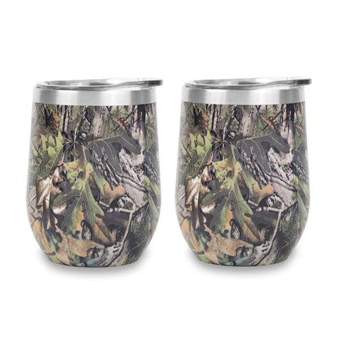 (30% off) 12oz Stemless Camo Tumbler - 2 Pack