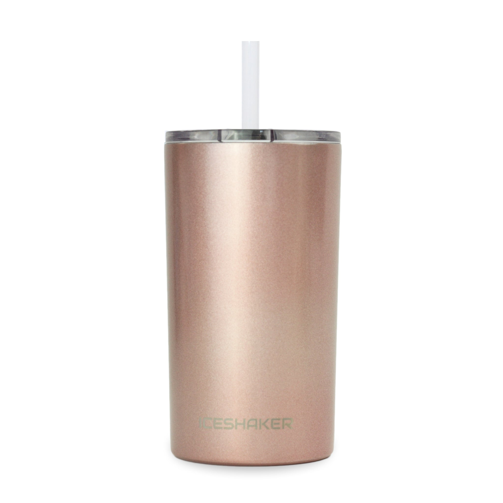 12oz Rose Gold Skinny Mini Steel Tumbler