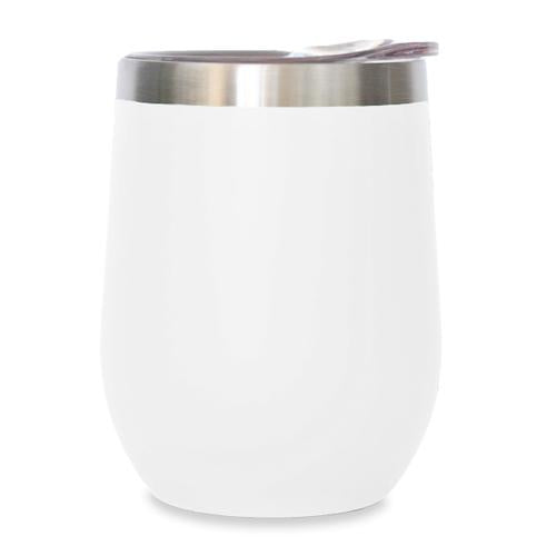 12oz Stemless Wine Tumbler - White