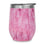 12oz Stemless Wine Tumbler Pink Watercolor