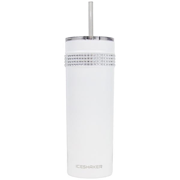 Cosmetic Imperfections - 20oz Skinny White Bling Tumbler