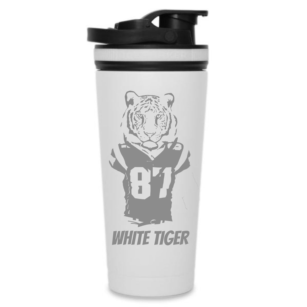 White Tiger Edition - Custom 26oz Ice Shaker Bottle