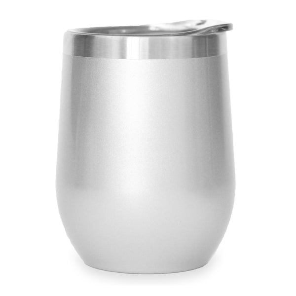 Custom Shop - 12oz Stemless Wine Tumbler - Silver
