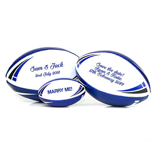 'Save the date' Personalised Rugby Balls