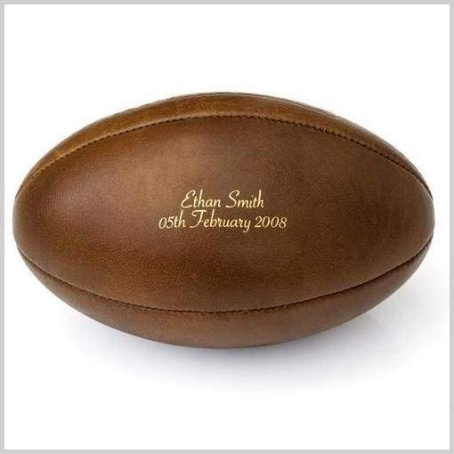 New Product - Vintage Leather Personalised Rugby Balls