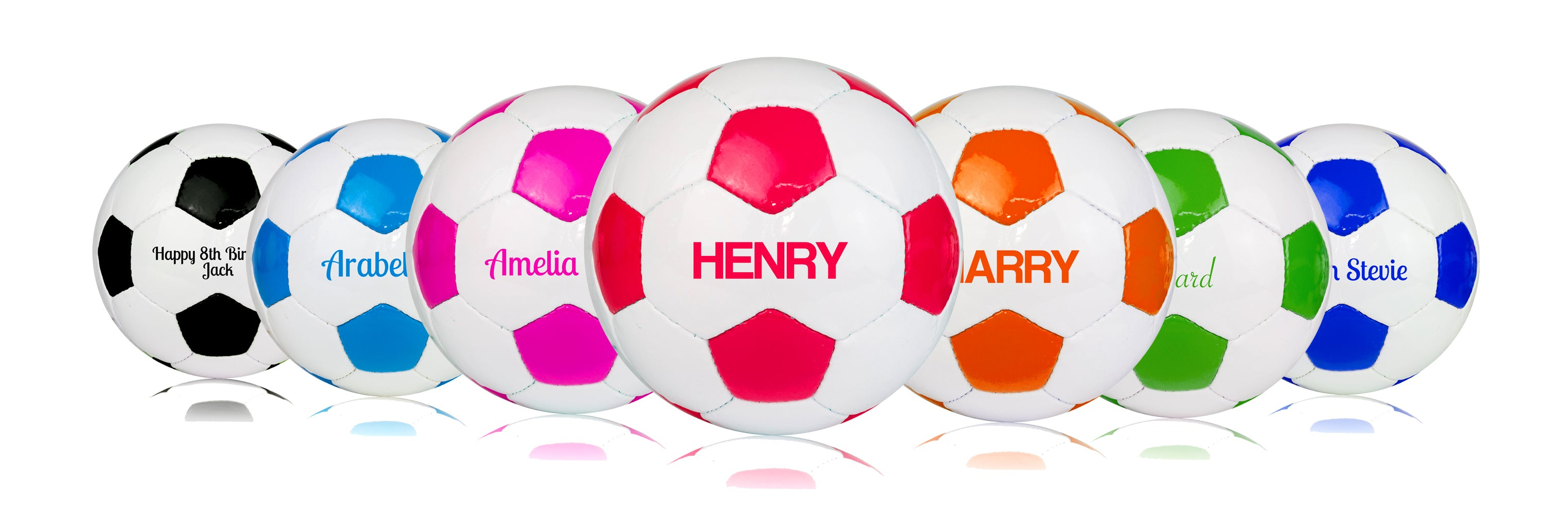 Personalised Footballs - Printed with Kids Name - Size 3 4 5