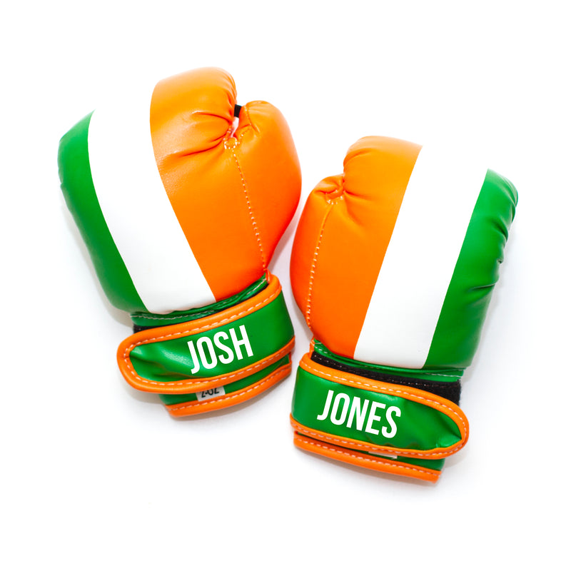 Personalised Baby Boxing Gloves - Ireland Flag