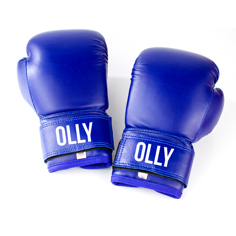 Kids Personalised Boxing Gloves - Blue
