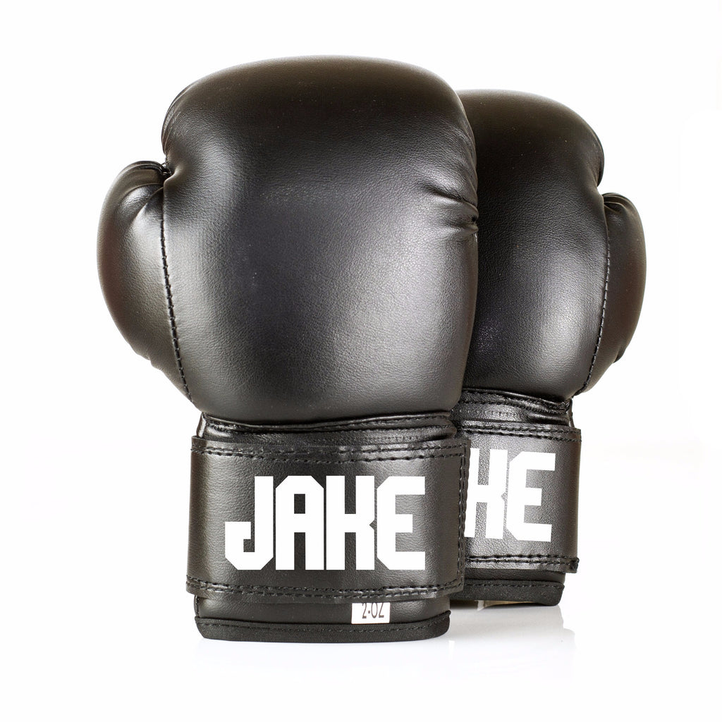 Personalised Baby Boxing Gloves - Black