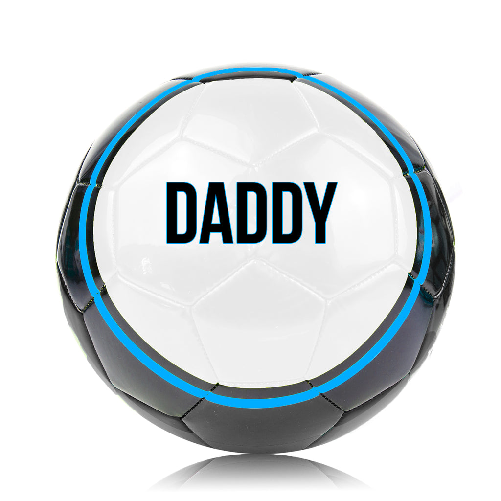Father's Day 'DADDY' Football Ball - Size 5 Blue