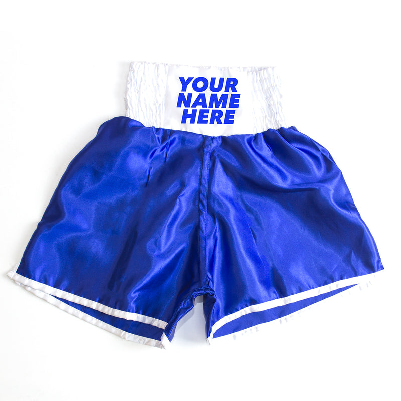 Personalised Boxing Shorts - Blue Mens