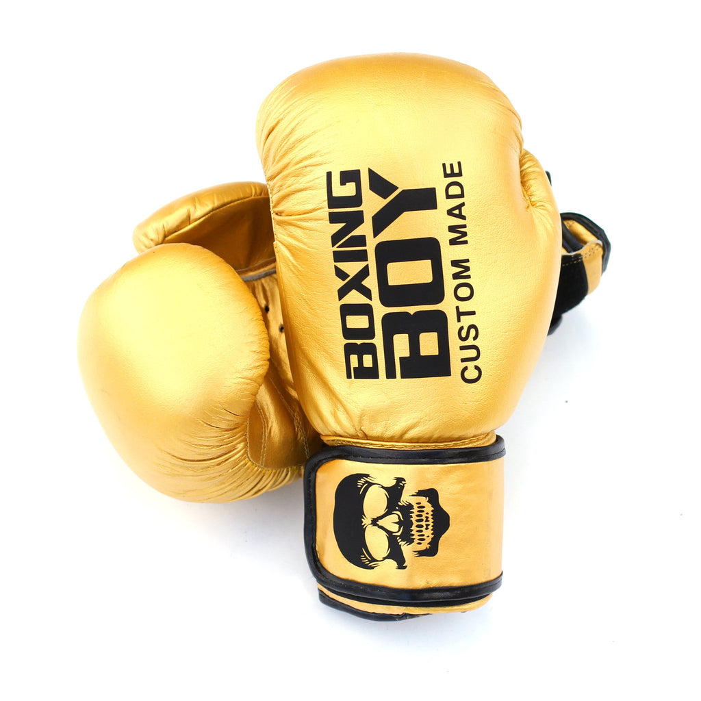 Custom Branded Boxing Gloves - Leather 12oz Gloves