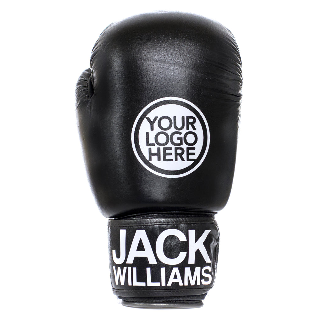 Personalised Leather Boxing Gloves - Black