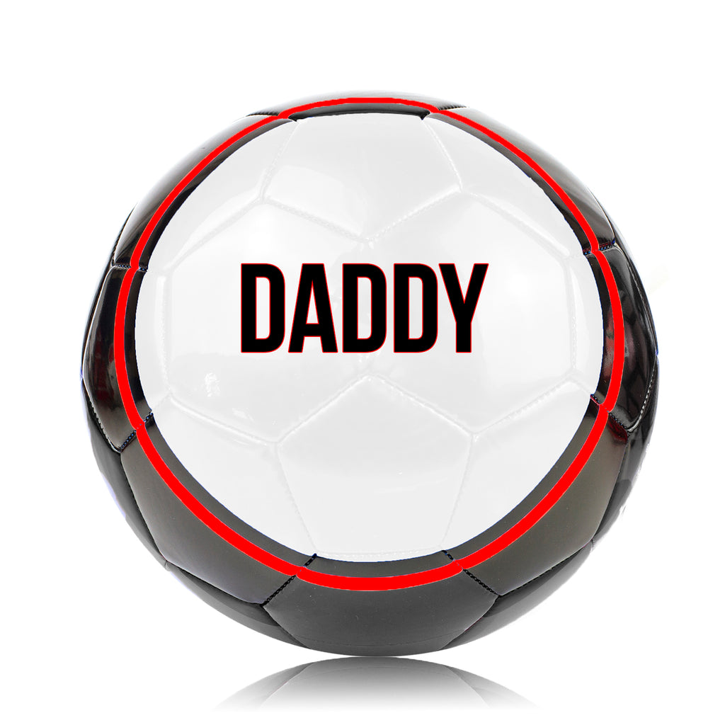 Father's Day 'DADDY' Football Ball - Size 5 Red
