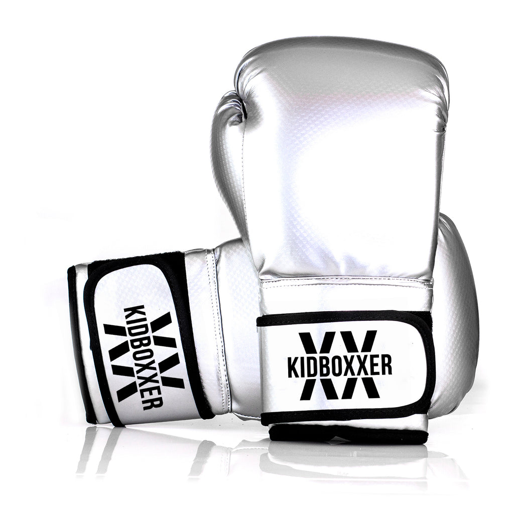 Custom Branded Boxing Gloves - Metallic  PU Gloves