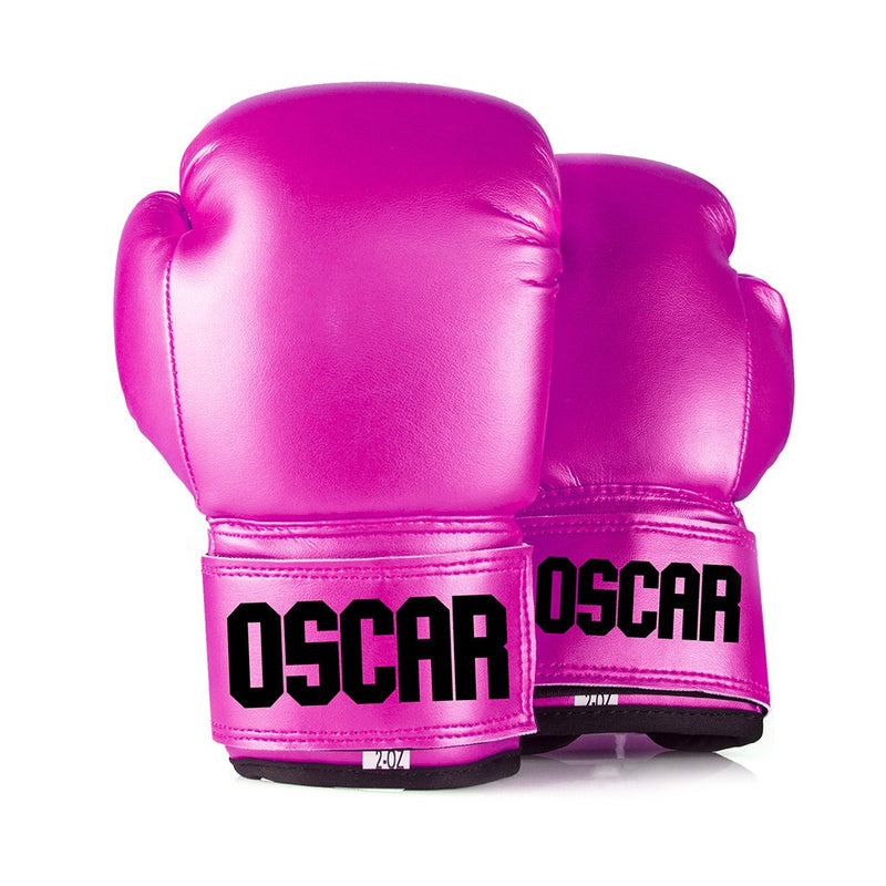 Full Leather Kids Personalised Boxing Gloves - Pink