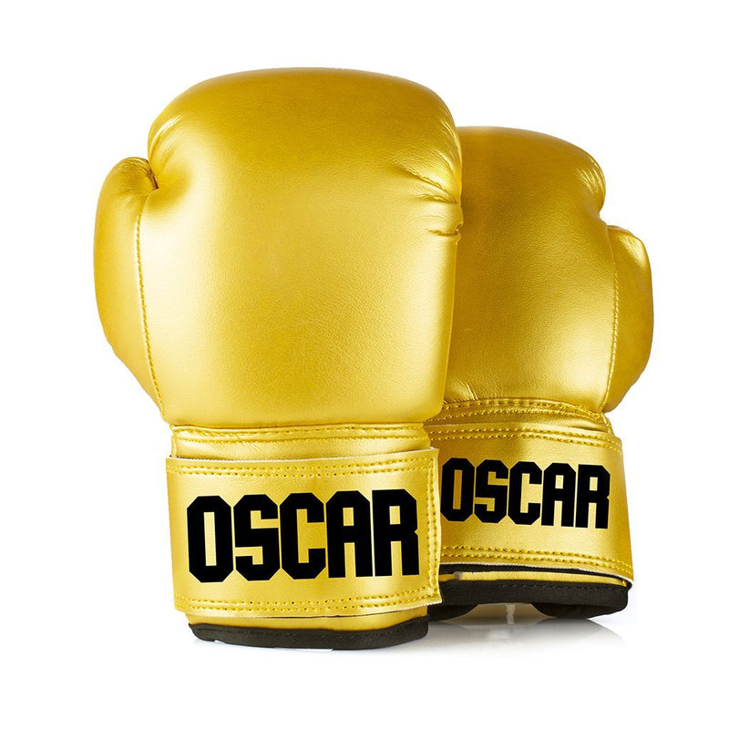 Full Leather Kids Personalised Boxing Gloves - Gold