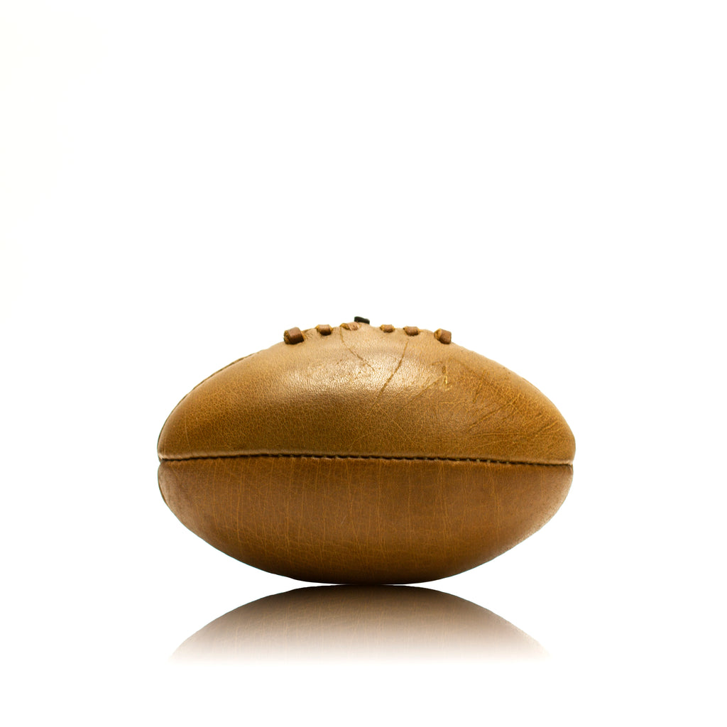 Vintage Leather Mini Rugby Ball - Unbranded