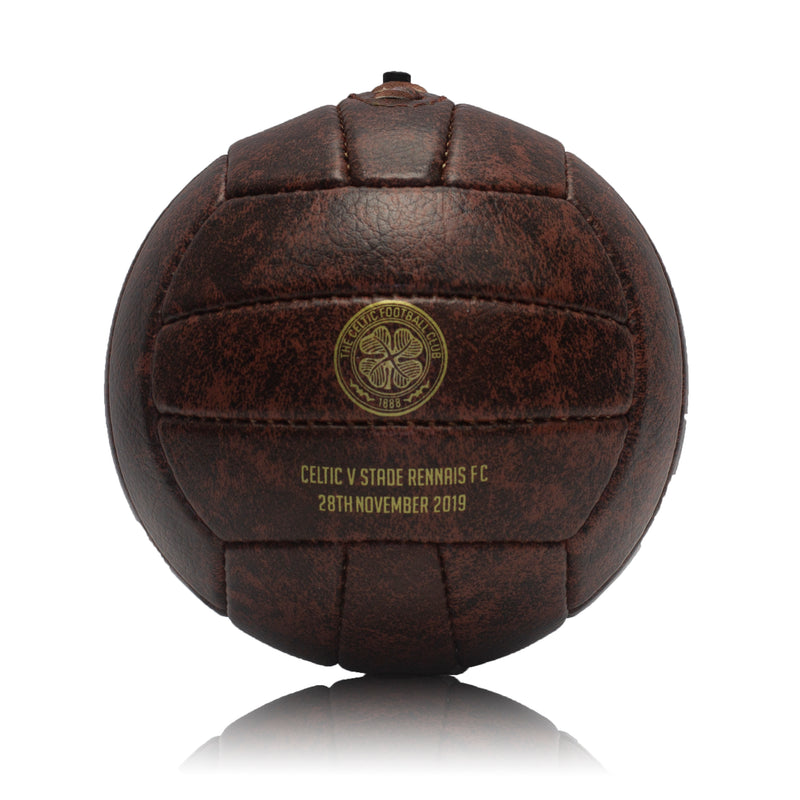 Vintage Football Ball - Faux Leather Mini