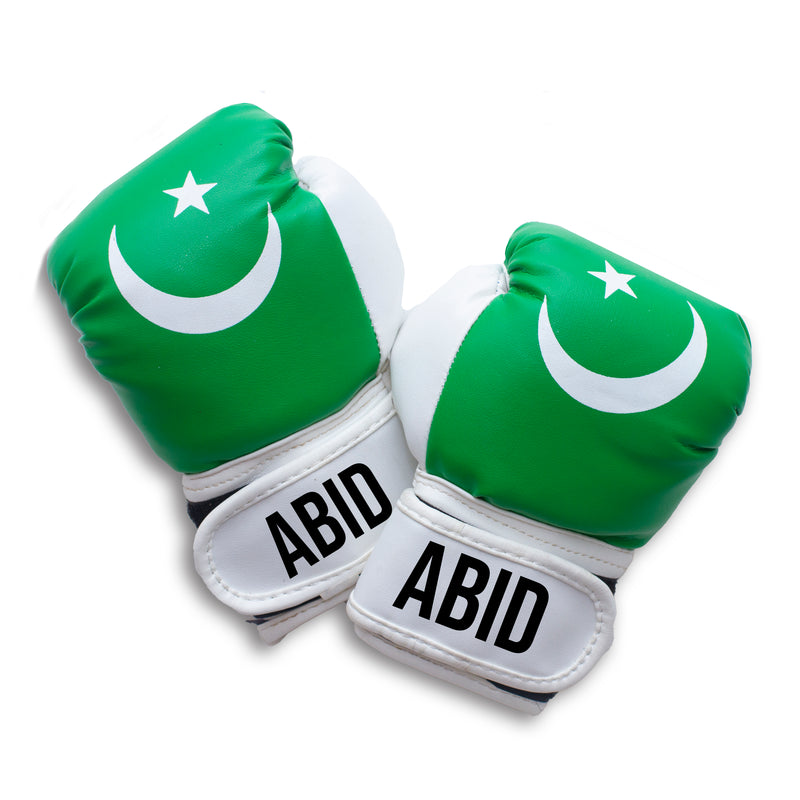 Personalised Baby Boxing Gloves - Pakistan Flag
