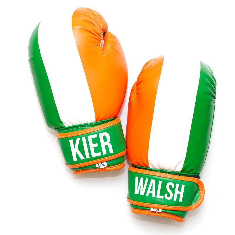 Personalised Kids Boxing Gloves - Ireland Flag