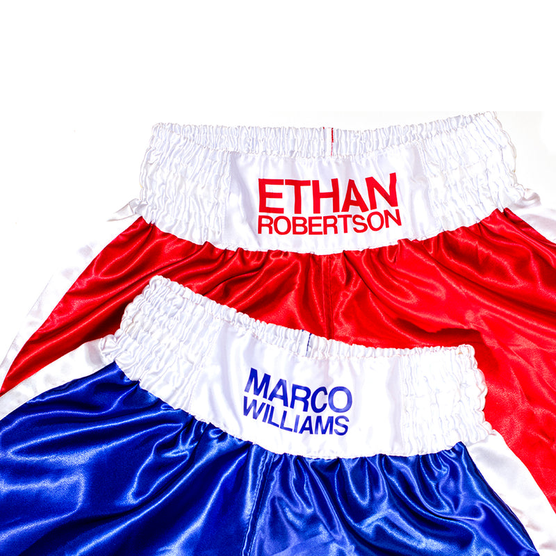 Personalised Boxing Shorts - Red Mens