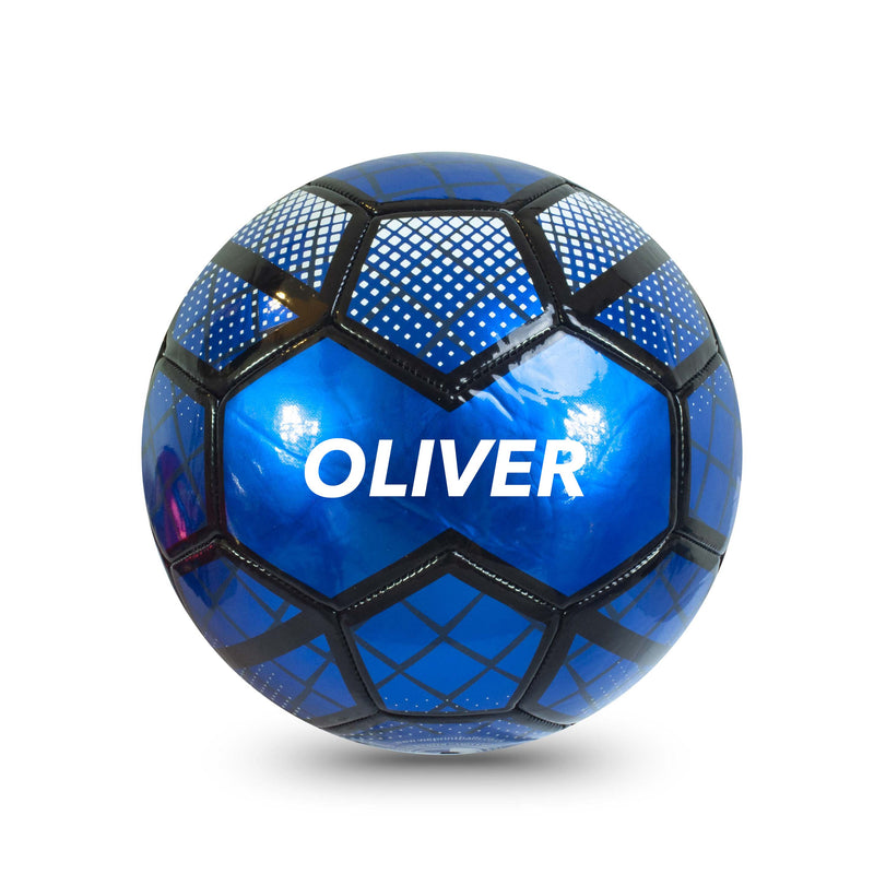 Personalised Football - Metallic Blue Size 5