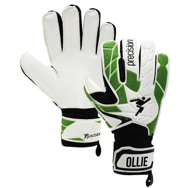 Personalised Precision Junior Heatwave GK Gloves - White/Green