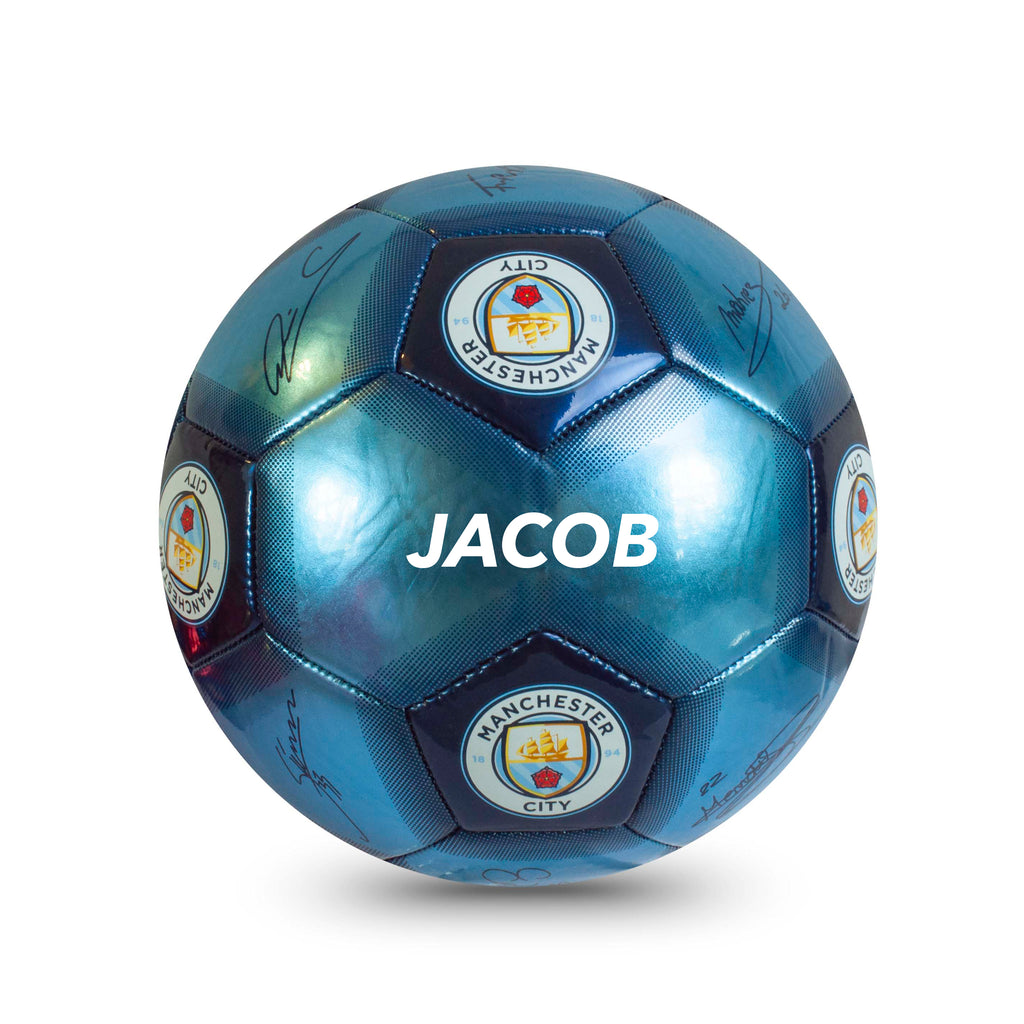 Personalised Manchester City Football Ball - Size 5
