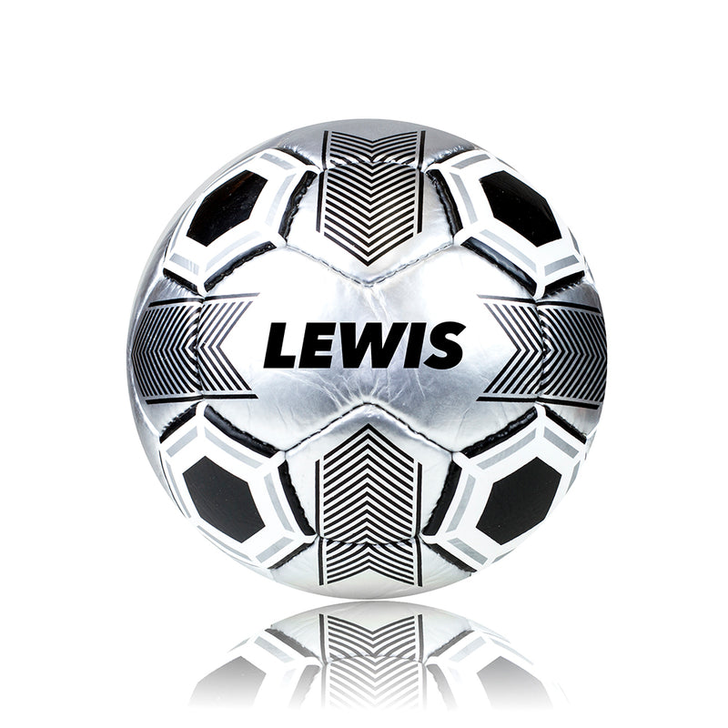 Personalised Football - Metallic Silver Size 5