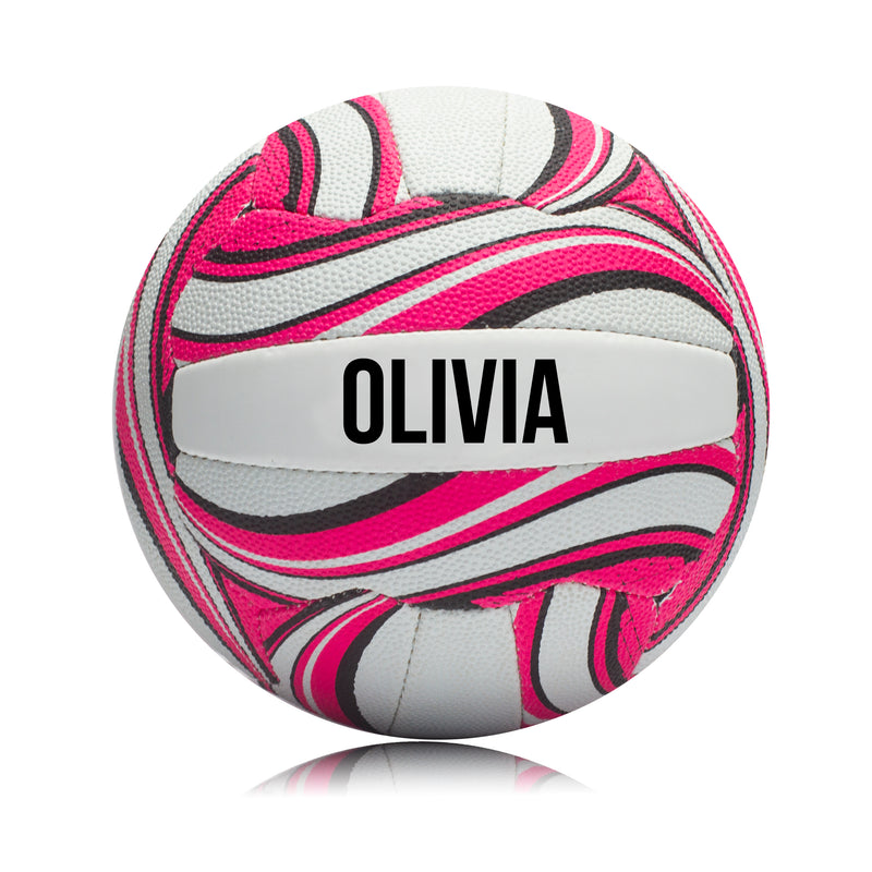 Personalised Netball Ball - Pink